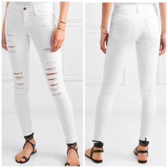 White Frame Denim Le Skinny de Jeanne